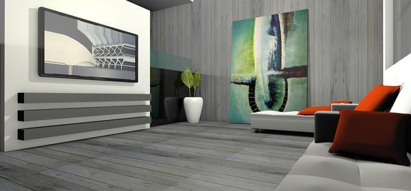 Przestrzenny obraz na ścianie salonu